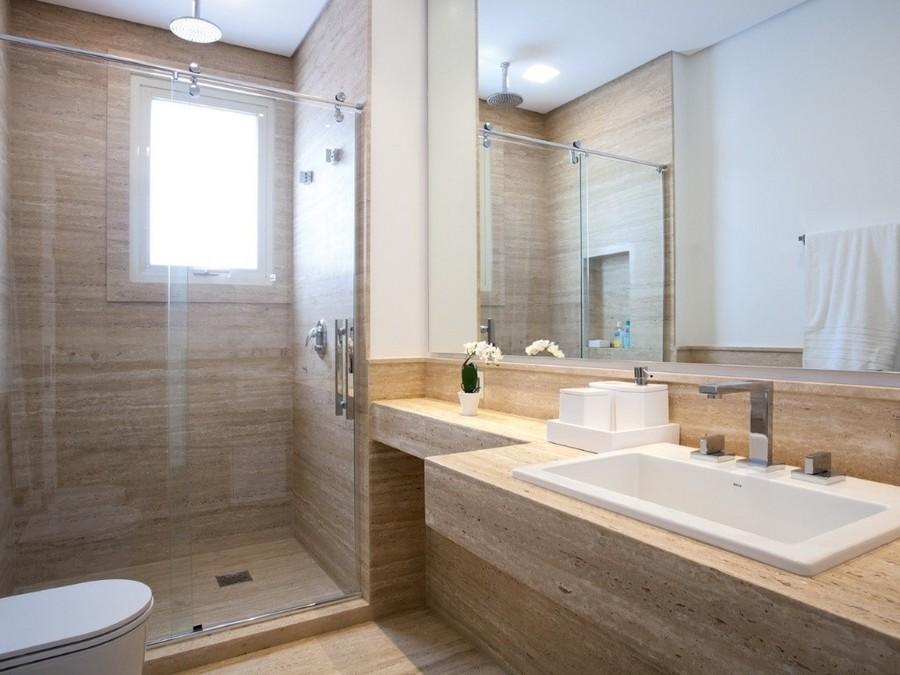 Banheiros Decorados Modernos Para Você Se Inspirar -> Banheiro Moderno Madeira