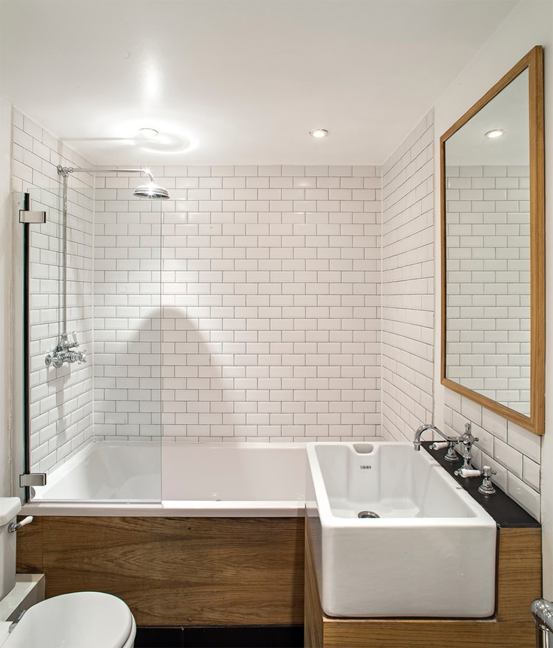 Banheiros Decorados Modernos Para Você Se Inspirar -> Banheiro Super Pequeno Com Banheira