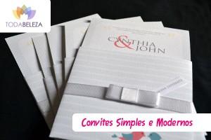 Modelos de Convites de Casamento Simples e Modernos