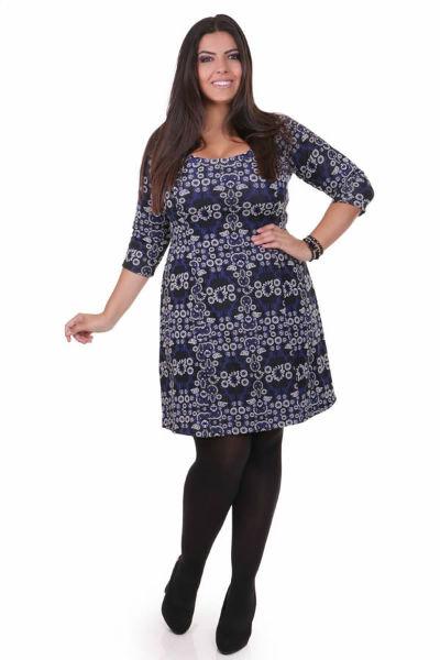 vestido para gordinha azul lindo