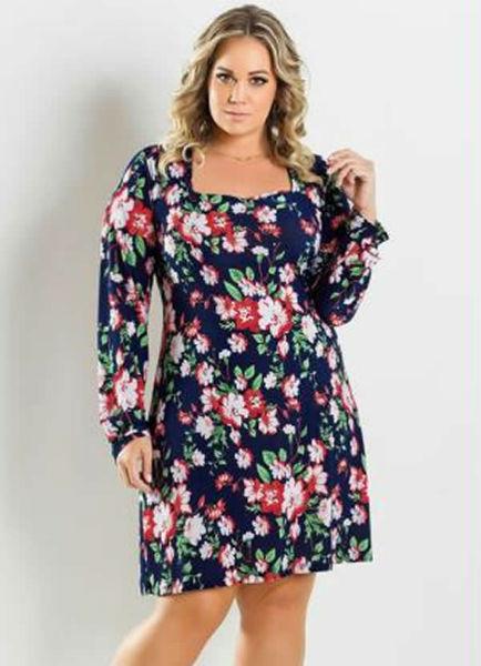 vestido para gordinha floral lindo