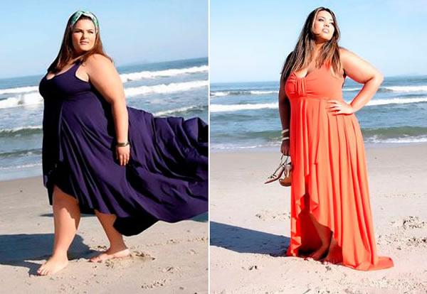 vestido para gordinha longo solto praia