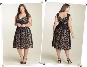 vestido para gordinha preto rendado