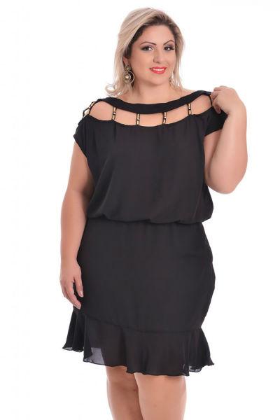 vestido para gordinha preto soltinho