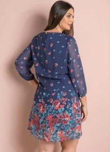 vestido para gordinha soltinho azul