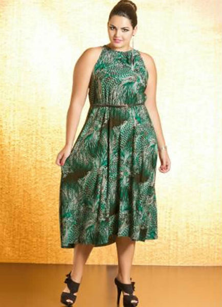 vestido para gordinha verde esmeralda