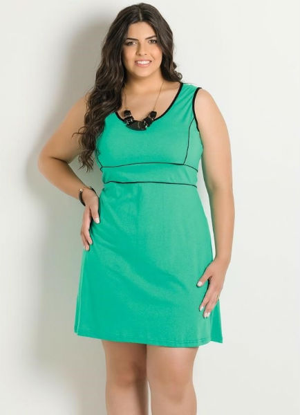vestido para gordinha verde justo