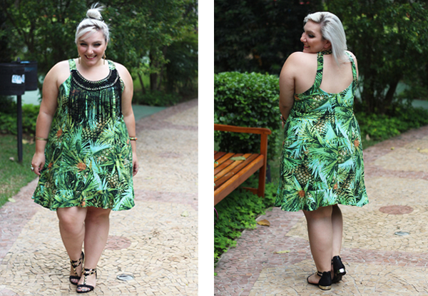 vestido para gordinha verde verao