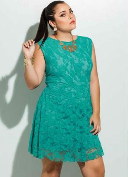 vestido para gordinha verde