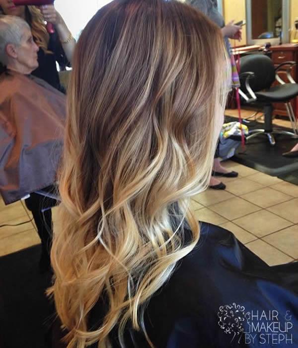 Ombre Hair Vermelho Corte Curto