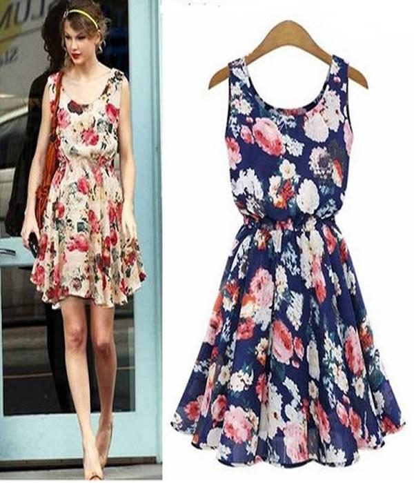 modelos de vestidos com flores
