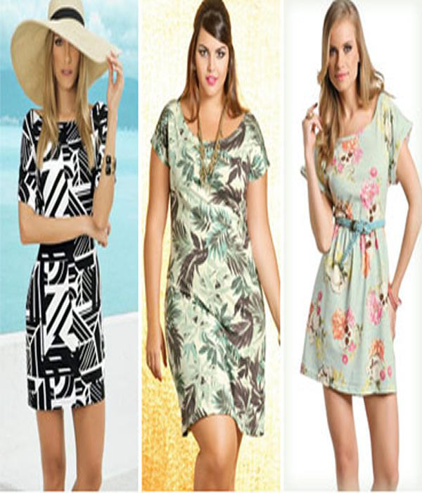 vestidos para o verão manga longa
