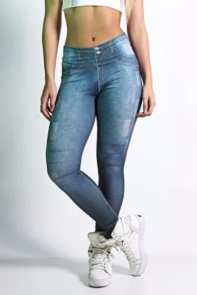 calça legging jeans academia