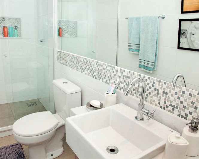 opcoes de Banheiros Pequenos Decorados