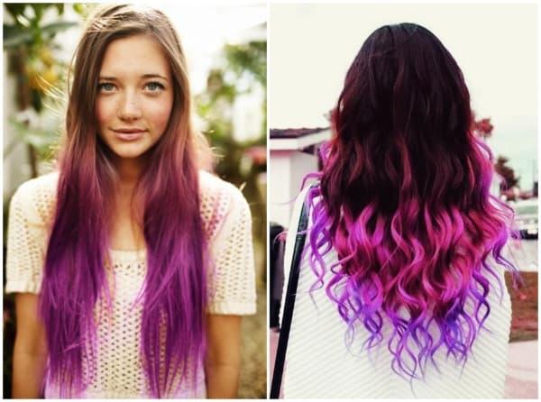 cabelos com luzes colorido