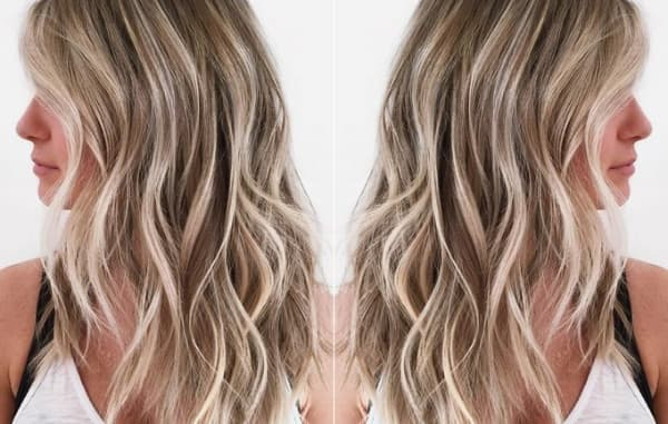 cabelos com luzes loiro