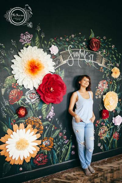 Chalkboard enfeitado com flores