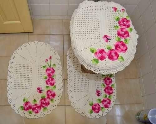 Jogo de Banheiro de Crochê: Aprenda a fazer em casa