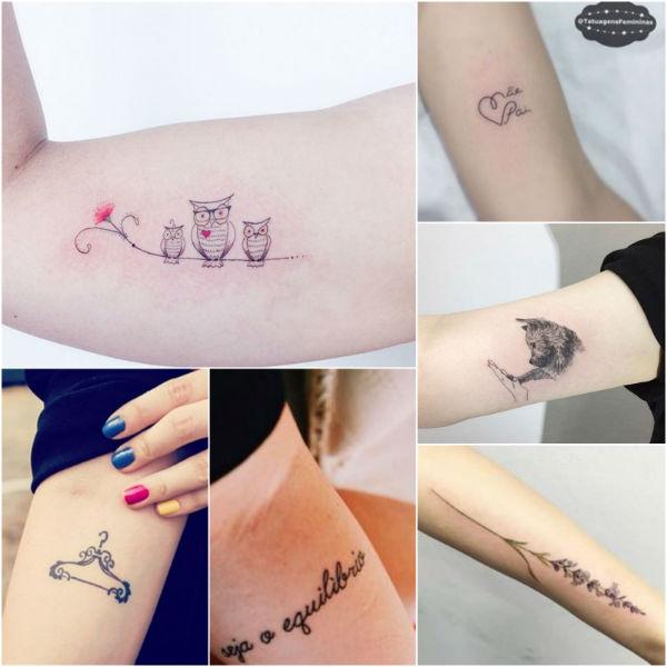 Tatuagens Femininas lugares diferentes