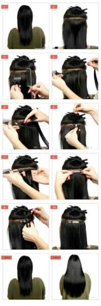 alogamento de cabelo