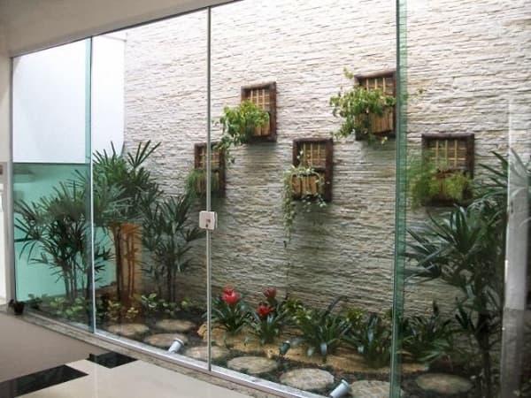 jardim de inverno com nichos