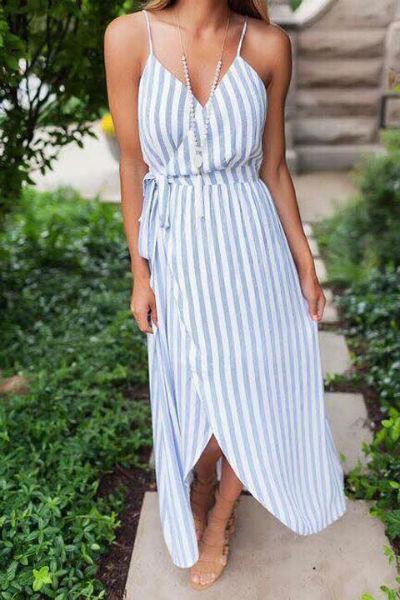 Vestido longo de linho e algodão nas cores do verão: Bem clarinho.