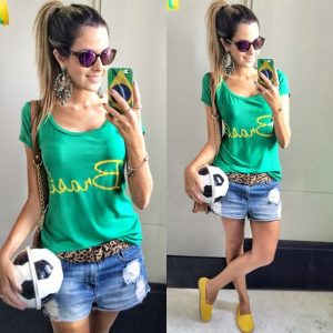 ideias de looks para a copa do mundo 2018