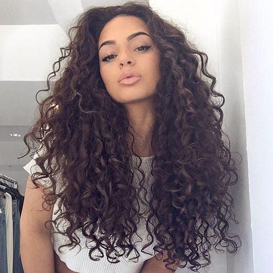 cabelo cacheado longo