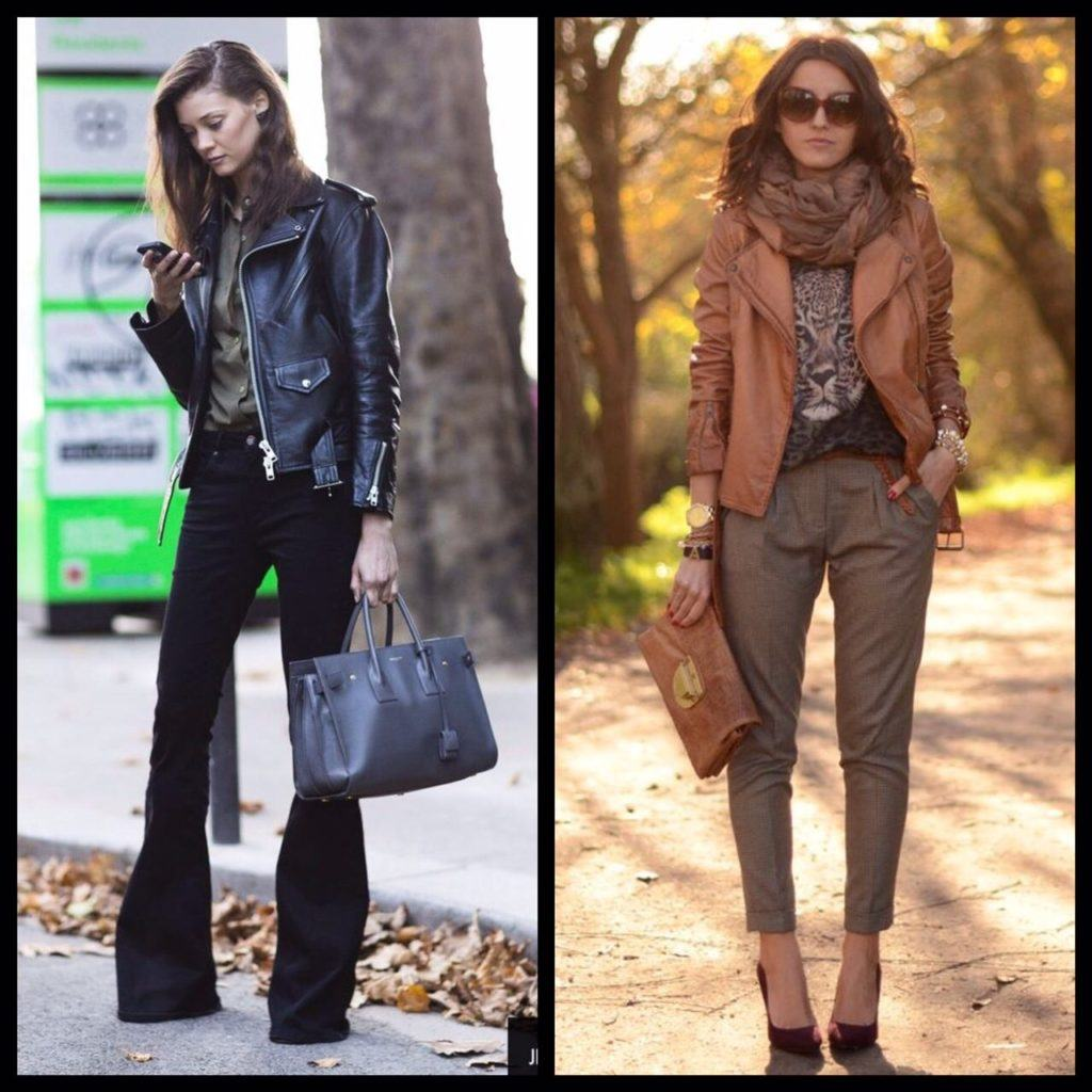 jaqueta de couro no inverno