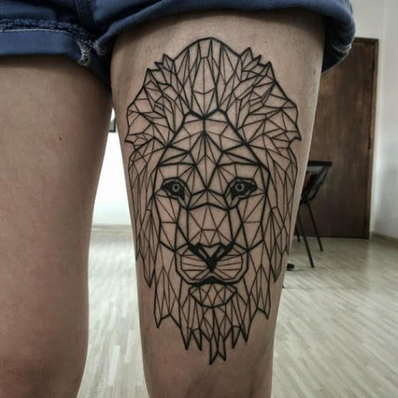 tatuagem de leao