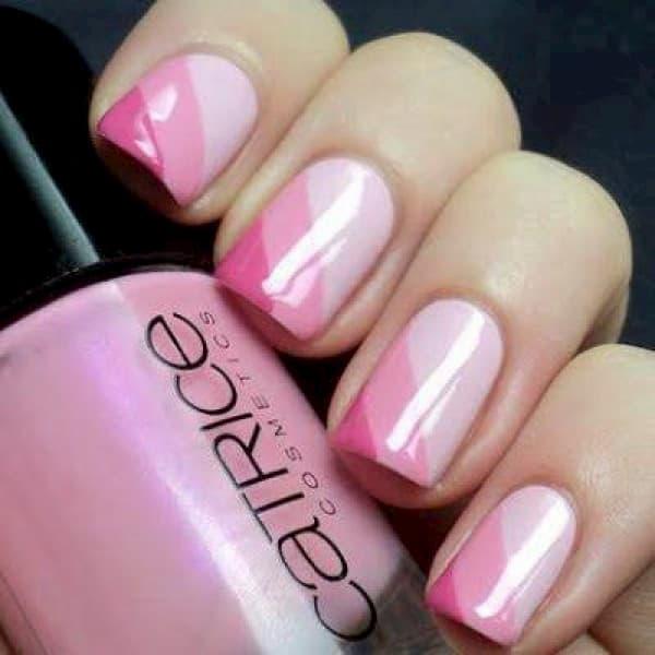 unha decorada tons de rosa