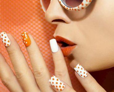unha decorada unhas decoradas com laranja