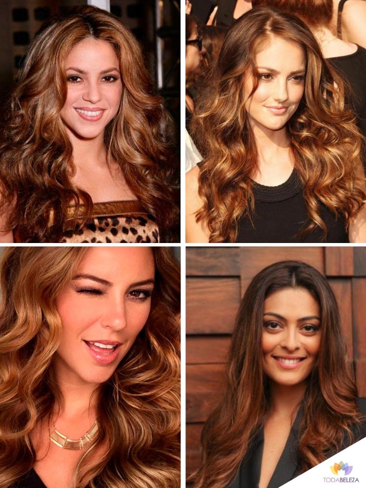 cabelo marrom dourado