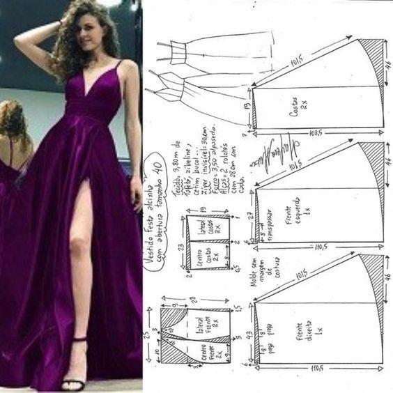 como fazer vestido de festa